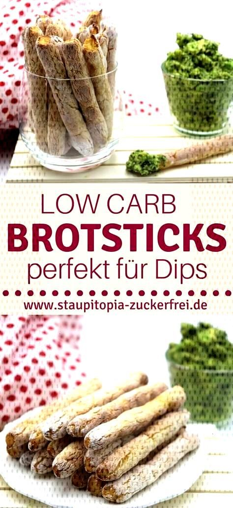 Low Carb Bread Sticks - The bread for dipping - Staupitopia sugar free - If you love snacks, then