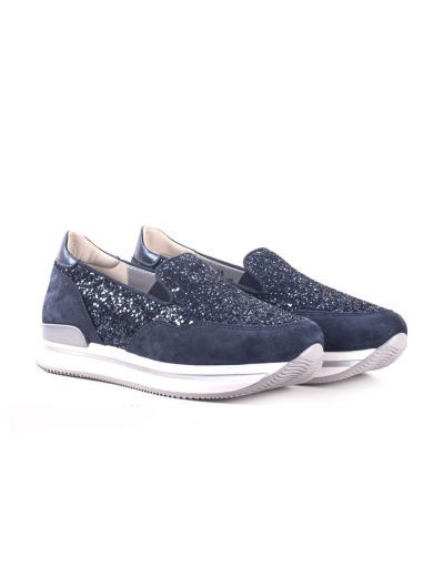4e0b0d2437fc Hogan H222 Platform Slip-On Sneakers, Blue   Shoes sneakers and Shopping