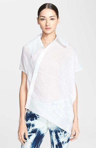 Junya Watanabe Asymmetric Linen Blouse available at #Nordstrom