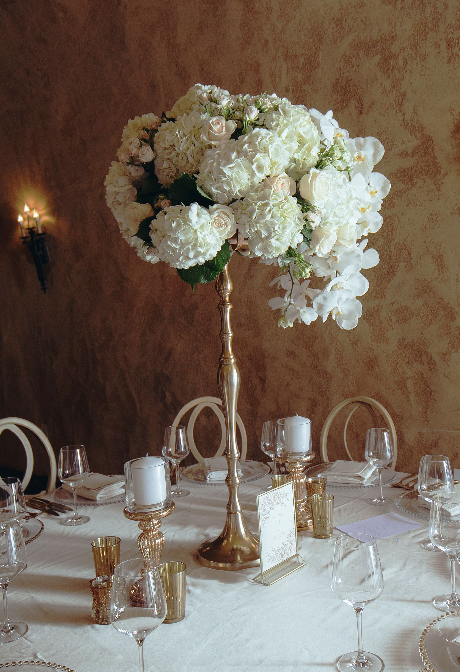 Gold Candelabra Used For Tall Centerpiece Stand 8 Available