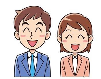 スーツを着た笑顔の男女 無料イラスト素材 イラスト素材図鑑