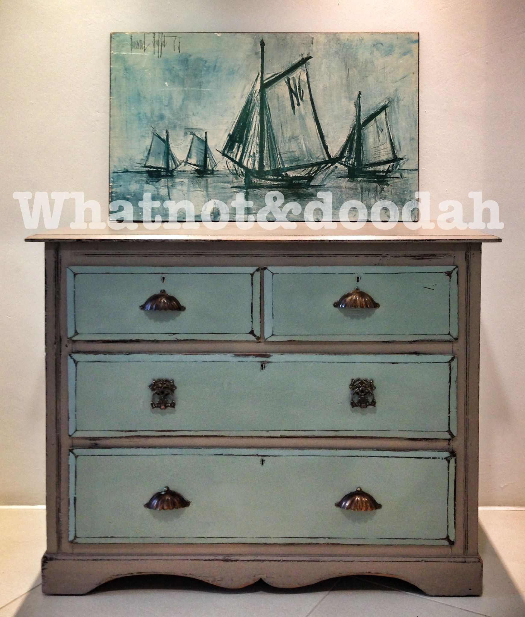Duck egg blue and french linen love this color combo for Ideas for painting a dresser