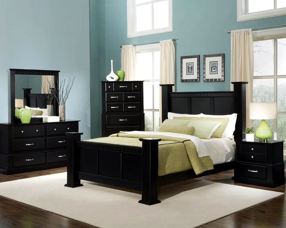 Master Bedroom Paint Colors With Dark Furniture Dream House Ideas Black Bedroom Furniture Set Black Bedroom Furniture Bedroom Interior