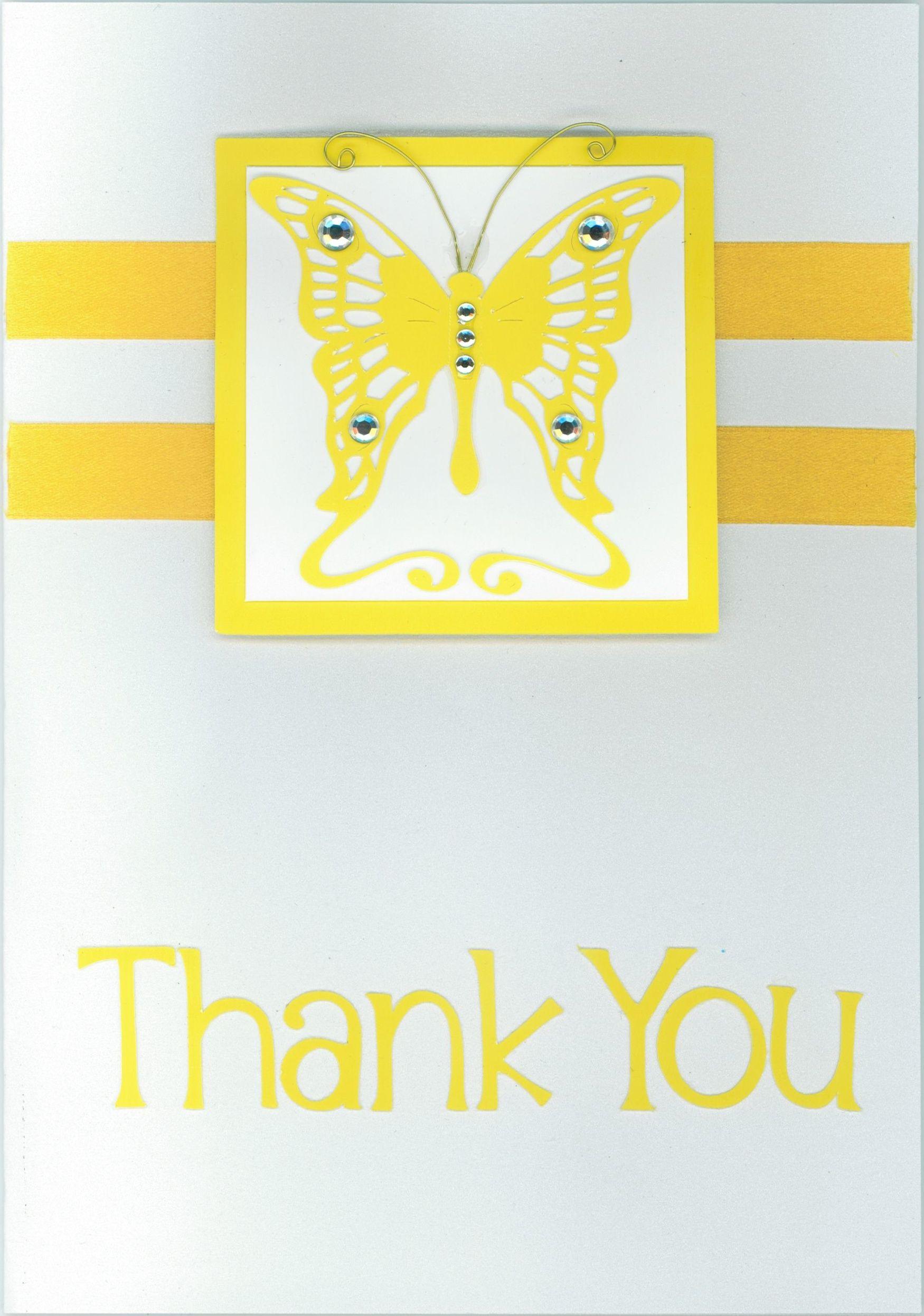 Thank you card 2013; butterfly; Cricut elements