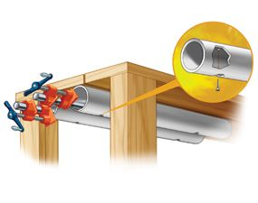Store bar and pipe clamps right under your workbench where they'll always be close at hand.