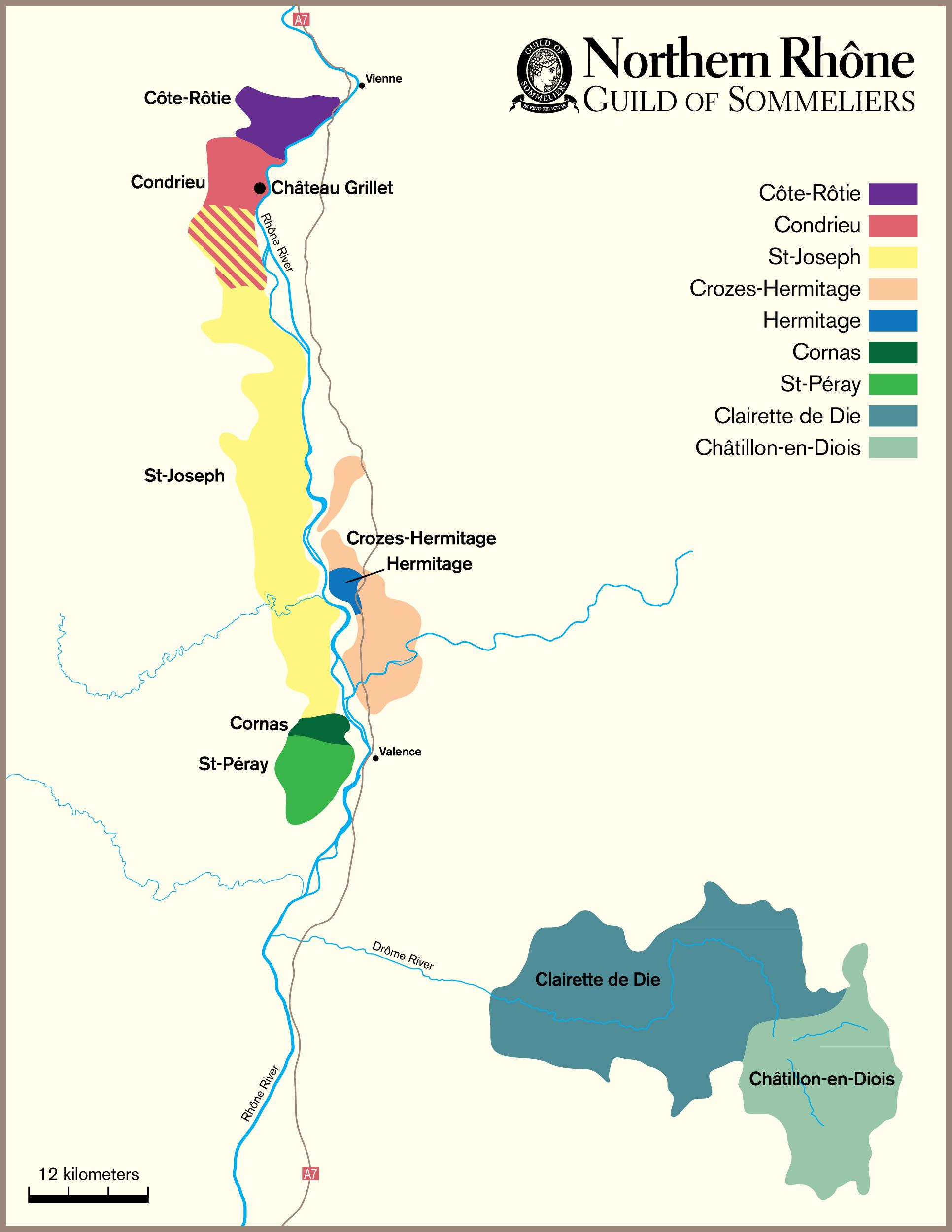 Northern Rhone Valley Wine Map Google Search