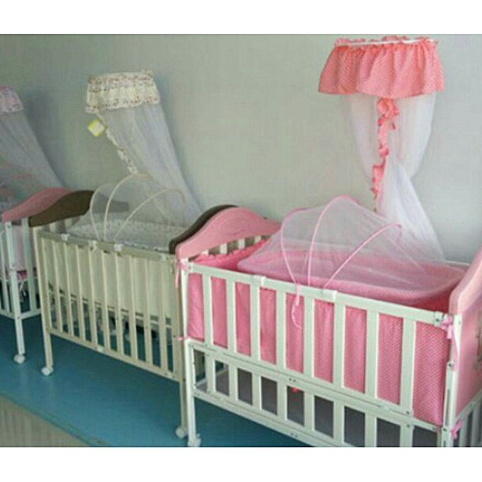 Generic NEW Foldable Baby Cot with Single High Pole Mosquito Net and ...