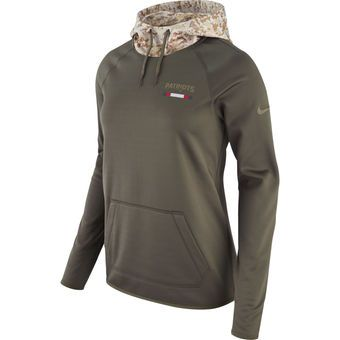 be5e1867 Nike New England Patriots Women's Olive Salute to Service Performance  Pullover Hoodie