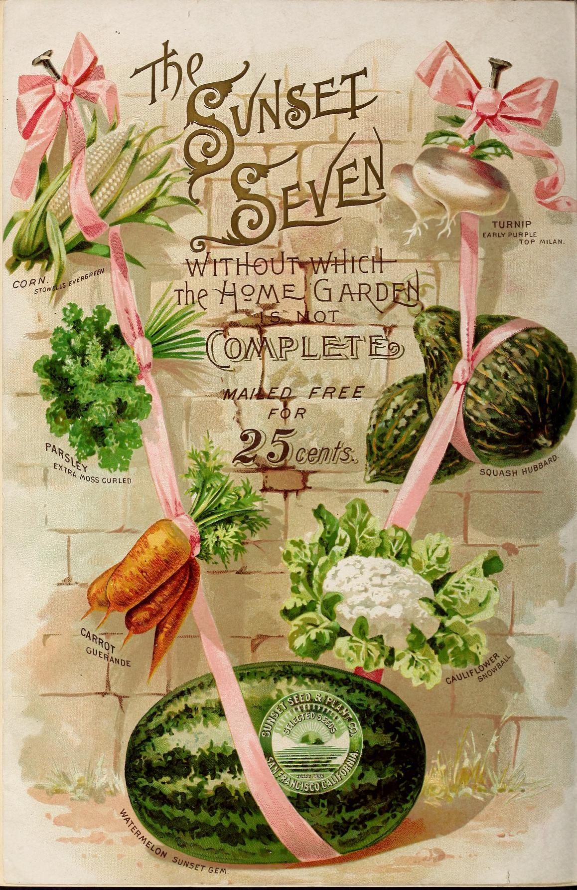 Sunset Seed and Plant Co. 1896 back cover I love this
