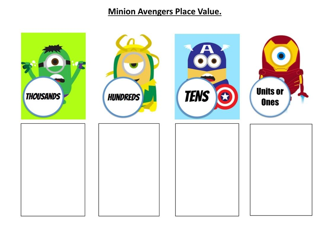 Minion Place Value Mat