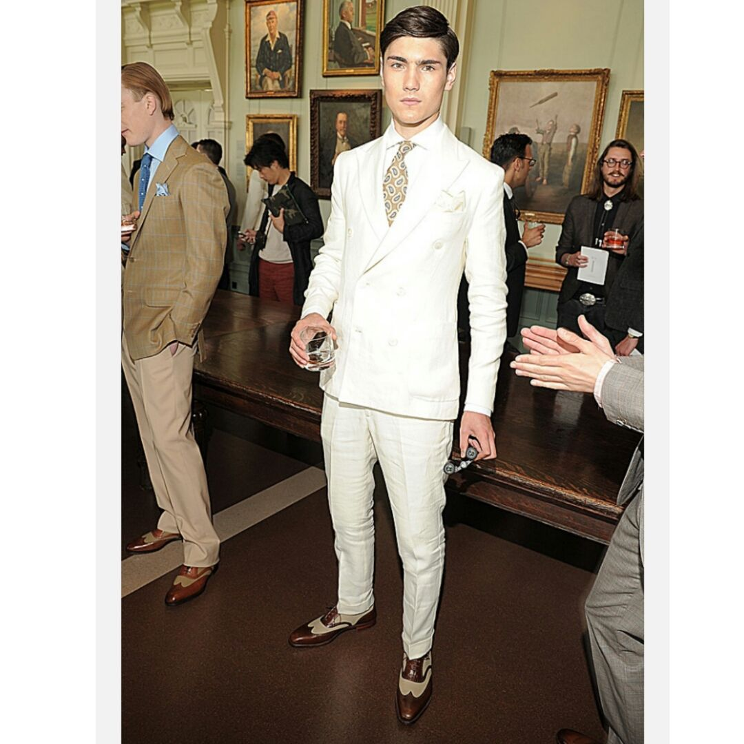 Perfect match of shoes and tie for a cream suit. www ...