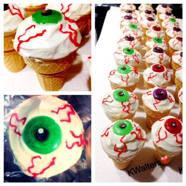 Eyeball Ice Cream Cone Cupcakes With Images Ice Cream Cone