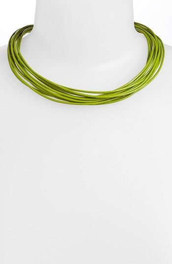 Simon Sebbag Multistrand Leather Necklace | Nordstrom