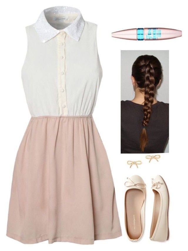"""""""it tis i, irl sansa"""" by galaxykitten ❤ liked on Polyvore featuring Glamorous, Aéropostale, Kate Spade and Maybelline"""