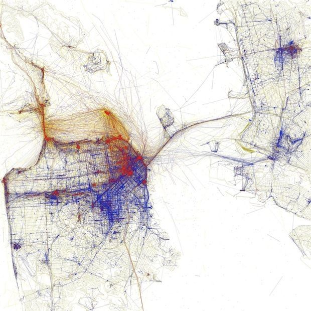 Using Flickr Geotags To Map The World S Cities Map Art Heat Map