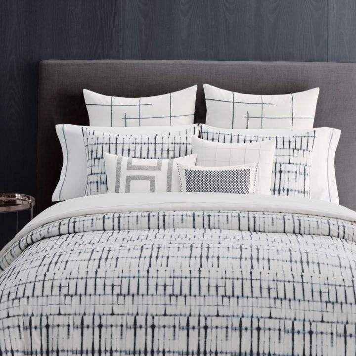 Shibori Grid Comforter Set King Products Comforter Sets