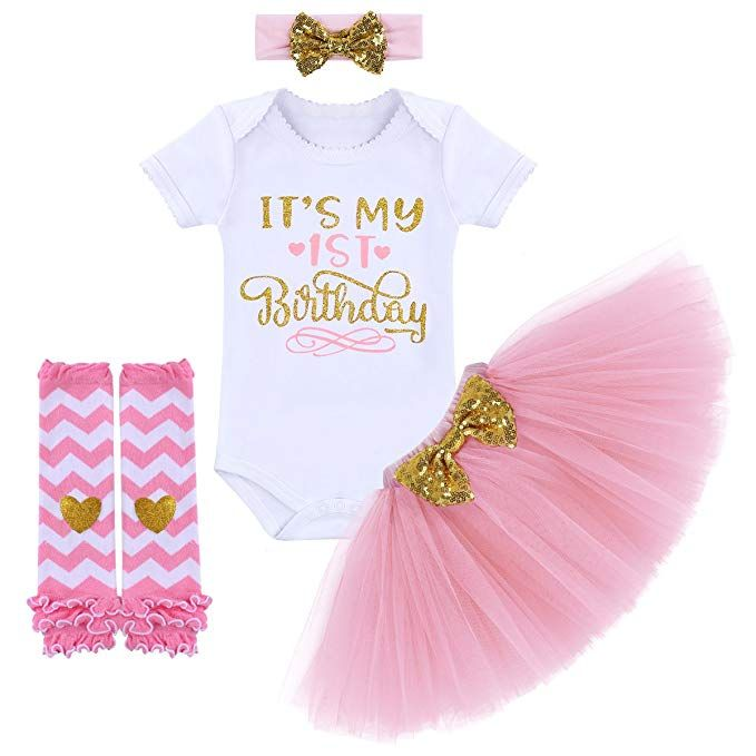 1st Birthday Girl  Outfit Unicorn Tutu Skirt Headband 3pcs Set