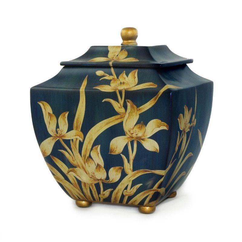 Indigo Orchid Cremation Urn - Large