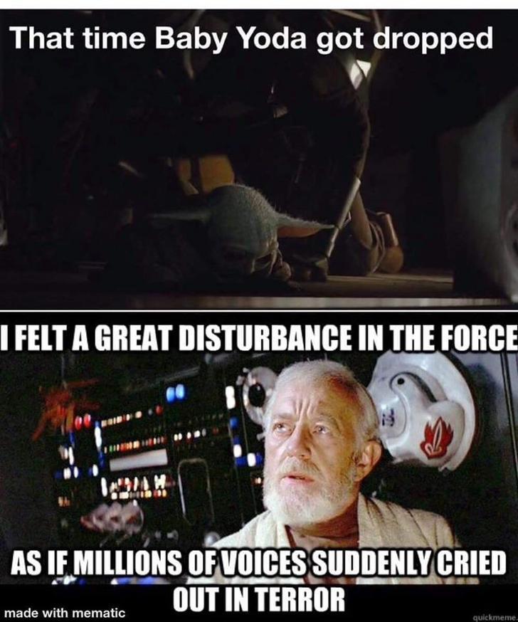 Baby Yoda Dump Star Wars Humor Funny Star Wars Memes Star Wars Jokes