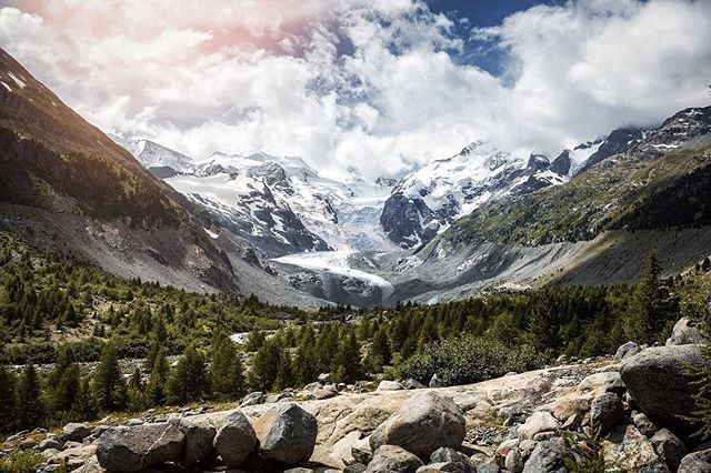 Taken on a hike to the Roseg Glacier with my family. Stunning view! #myswitzerland #super_switzerland #visitswitzerland #switzerlandpictures #inLOVEwithSWITZERLAND #ig_swiss #Switzerland_Vacations #Destinations_Switzerland #engadin #graubünden #glacier #roseg #fuji #fujifilm #x100s #hiking #outdoor