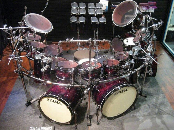 Tama rack kit... when you absolutely, positively HAVE to hit SOMEthing.... RIGHT NOW.... it's GOOD to have options, you know?