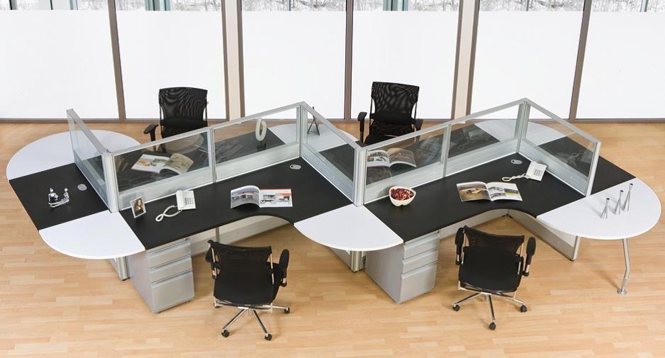Estacion de trabajo para 4 buscar con google deco for Escritorios modulares para oficina