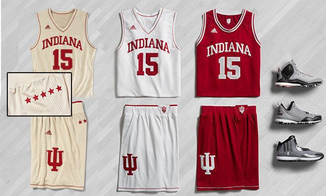 low priced 538c2 2c601 Indiana University Hoosiers adidas heritage uniform system ...