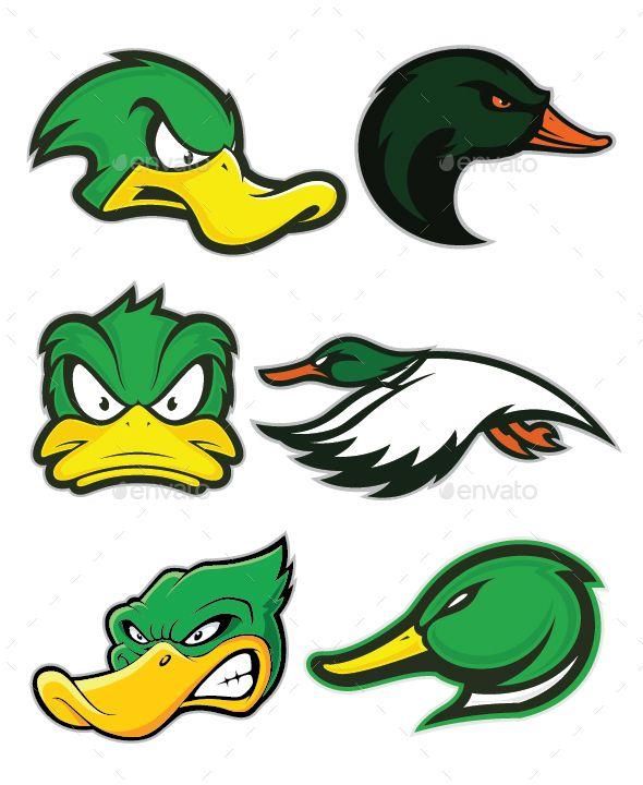 duck mascot logo logos font logo and flyer template rh pinterest com Ducks Unlimited Logo Drake Waterfowl