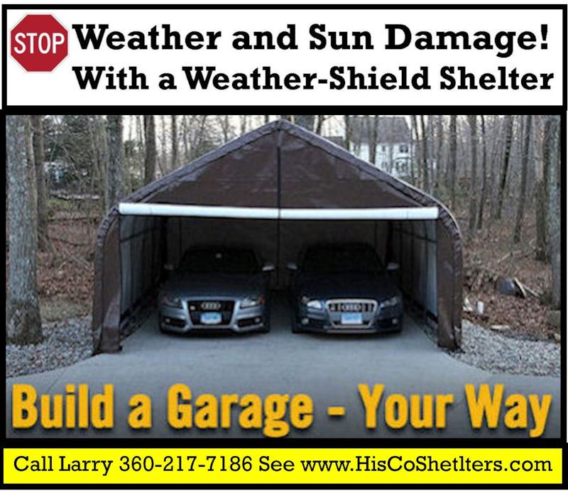 Portable Garage Shelter Logic Stop Weather And Sun Damage For Motorhome RV