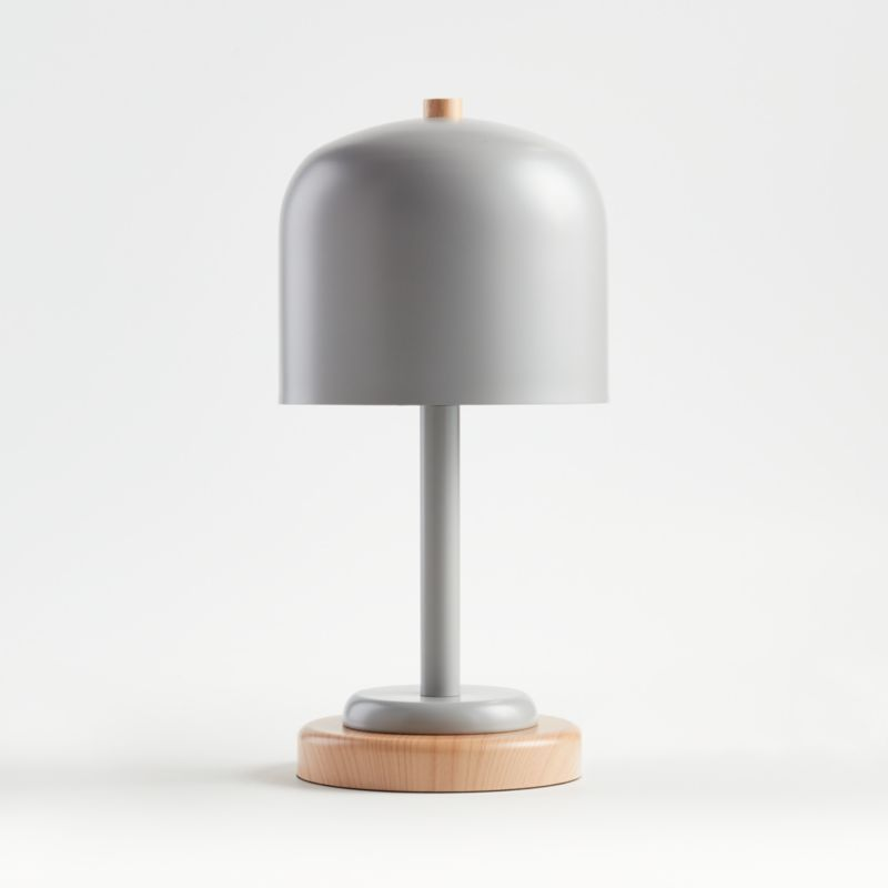 Grey Modern Dome Touch Table Lamp Reviews Crate And Barrel In 2020 Touch Table Lamps Table Lamp Kids Table Lamp