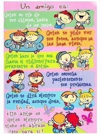 Un Amigo Es ƭɽღ Http Www Pinterest Com Teretegui Frases Día Del Amigo Tarjeta Dia Del Amigo Imagenes De Amistad Bonitas