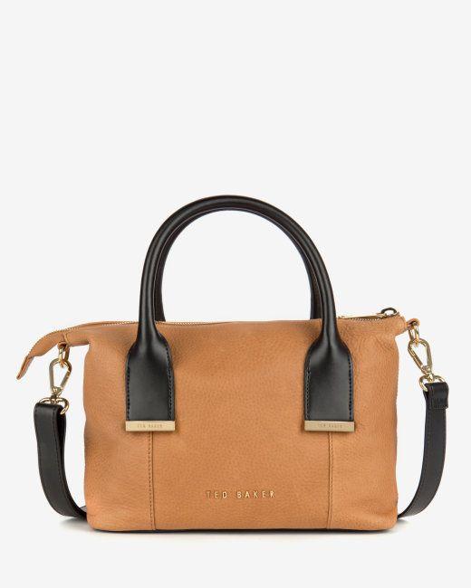 97661ed723 Leather mini tote bag - Tan   Bags   Ted Baker UK   Lust List ...
