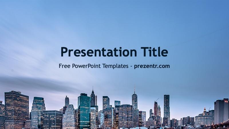 New York Powerpoint Template Prezentr Free Ppt Templates Powerpoint Templates Templates Free Ppt Template