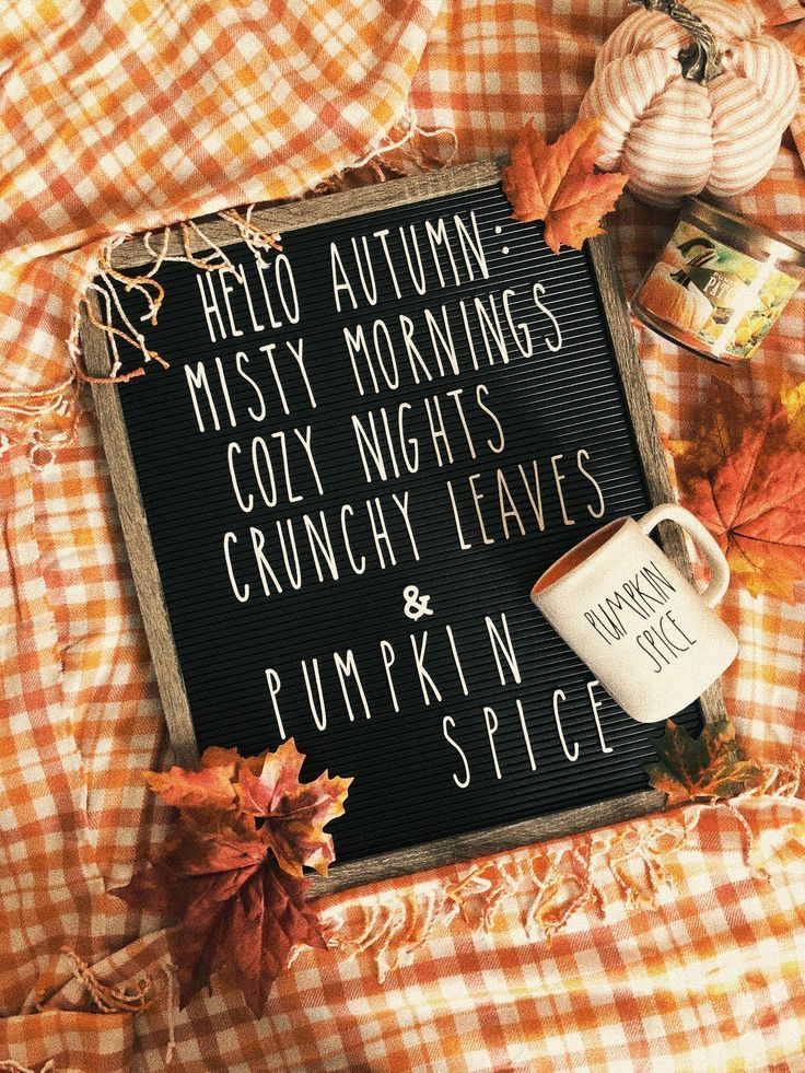 Fall Letterboard quote with Rae Dunn style letters