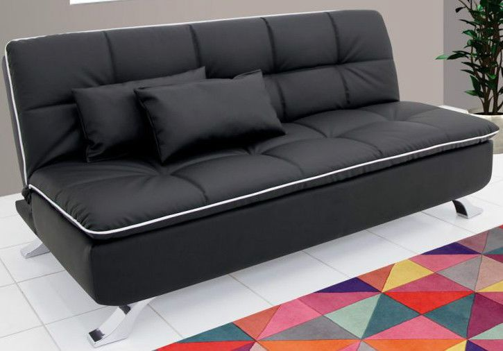 Ariana Soft Sofa cum Bed - Leatherette by Furny