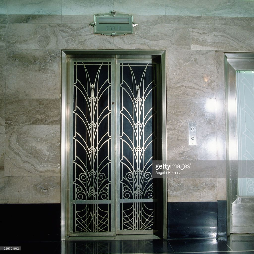 Art deco elevator door new york lift door patterns and designs