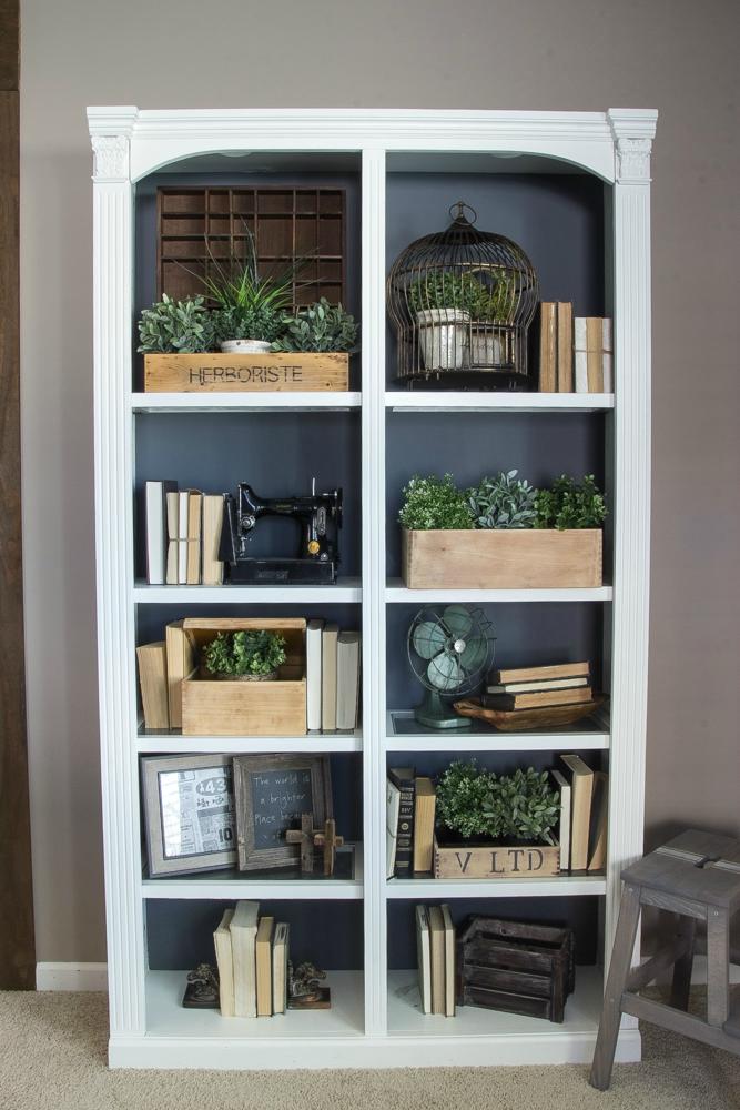 Diy Reclaimed Crates Bookcase Makeover Bookcase Makeover Living Room Bookcase Bookshelf