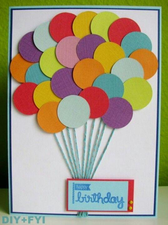 Открытка с днем рождения в детском саду своими руками