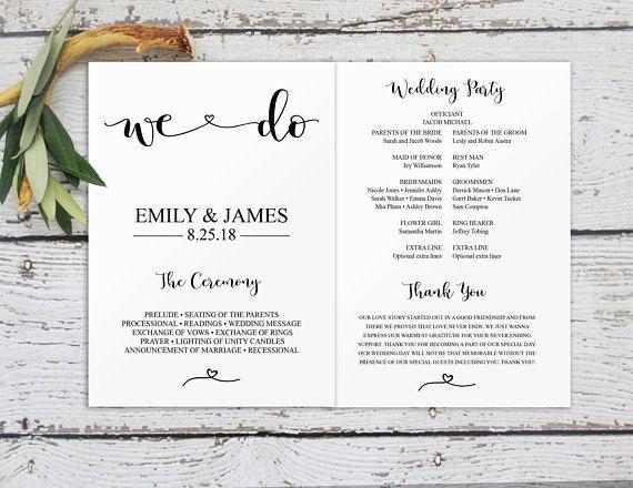 program wedding template