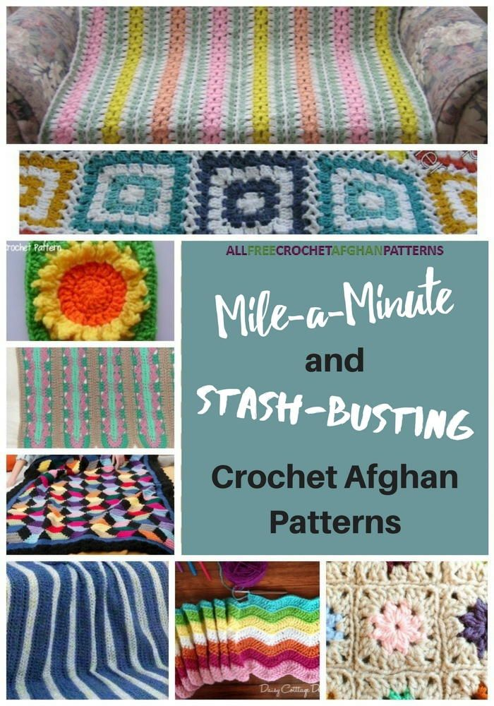 15 Mile-a-Minute and Stash-Busting Crochet Afghan Patterns | Scrap ...