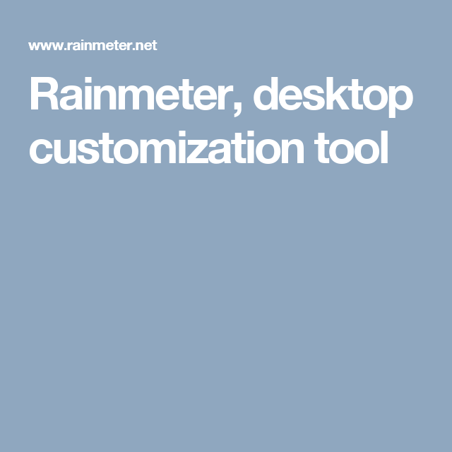 Rainmeter, desktop customization tool | Raspberry Pi | Desktop