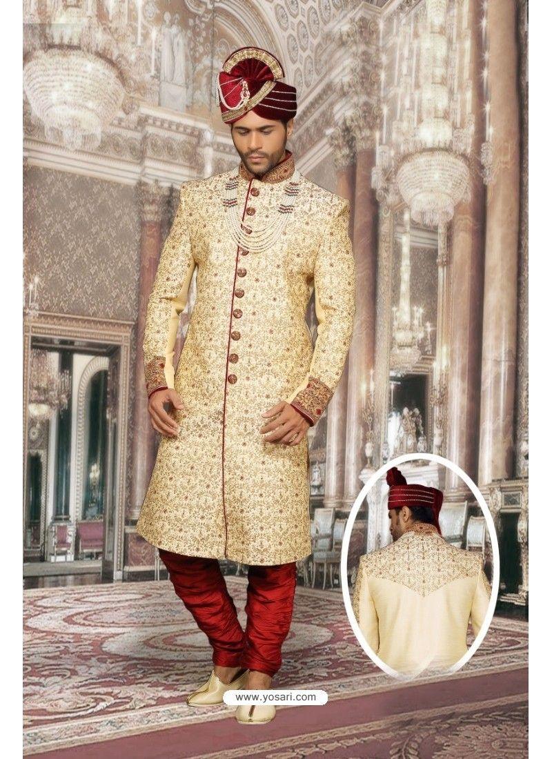 2c5485fdc3 Groovy Beige Dupion Sherwani. Groovy Beige Dupion Sherwani Ranveer Singh,  Sherwani, Churidar ...
