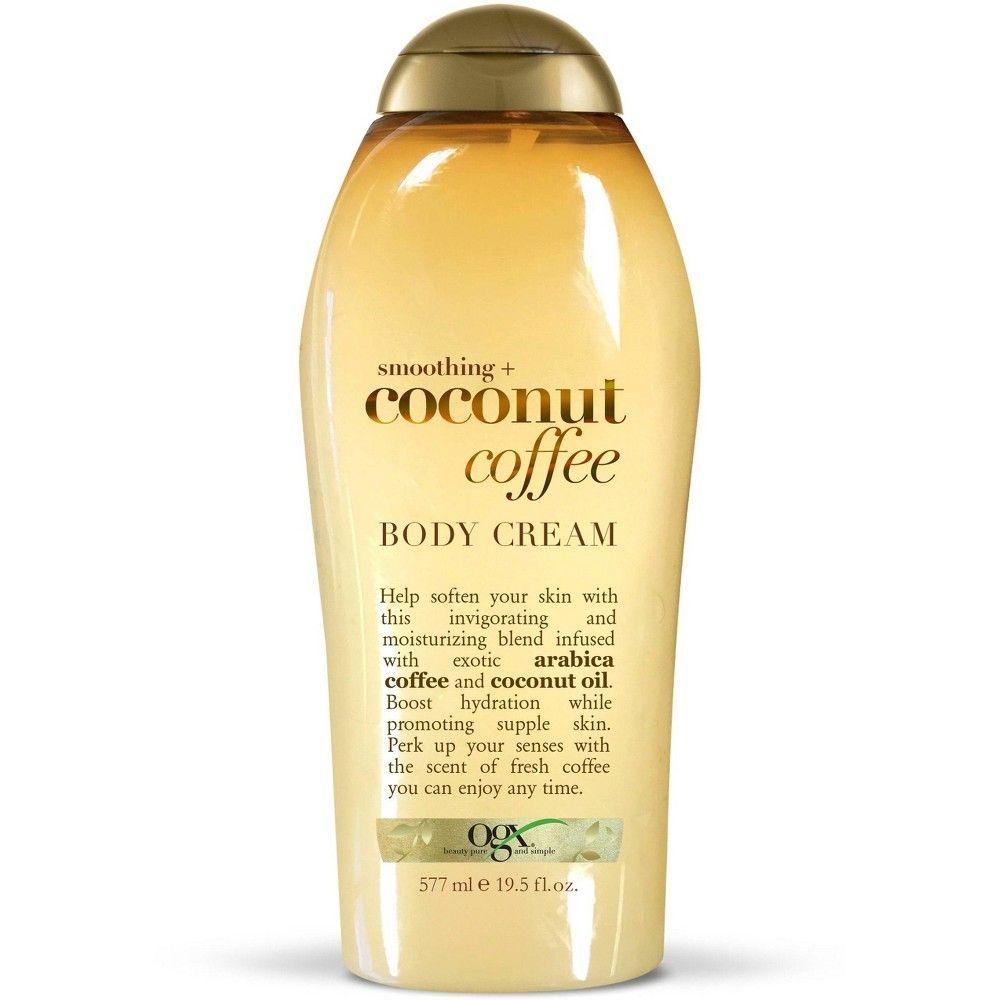 Ogx Smoothing And Coconut Coffee Body Cream 19 5oz Exfoliating