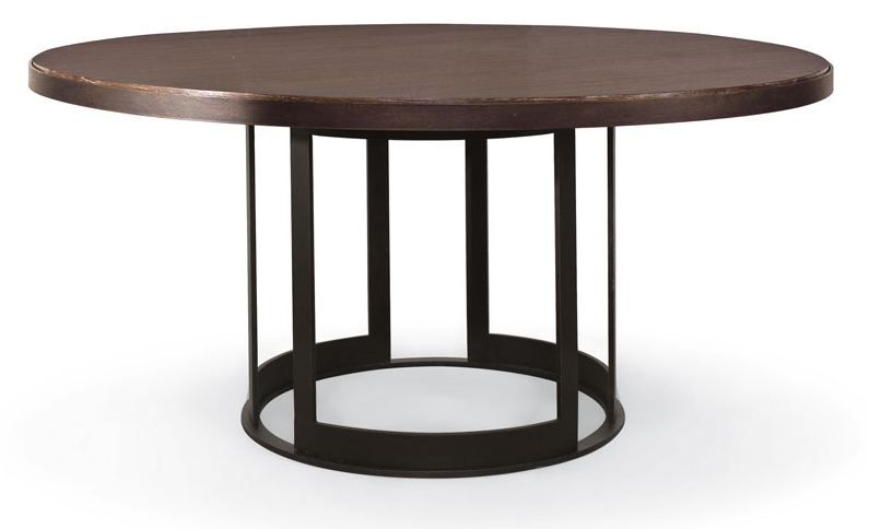 Dining 64 Round Dining Table With Open Metal Base 3420