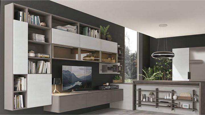 Cucina e soggiorno si incontrano creando ambienti vivaci e ...