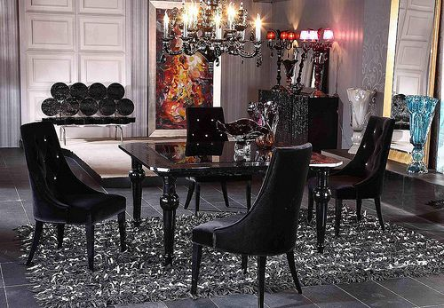 4148 Black Lacquer Dining Table Lacquer Dining Table Modern Dining Table Dining Table