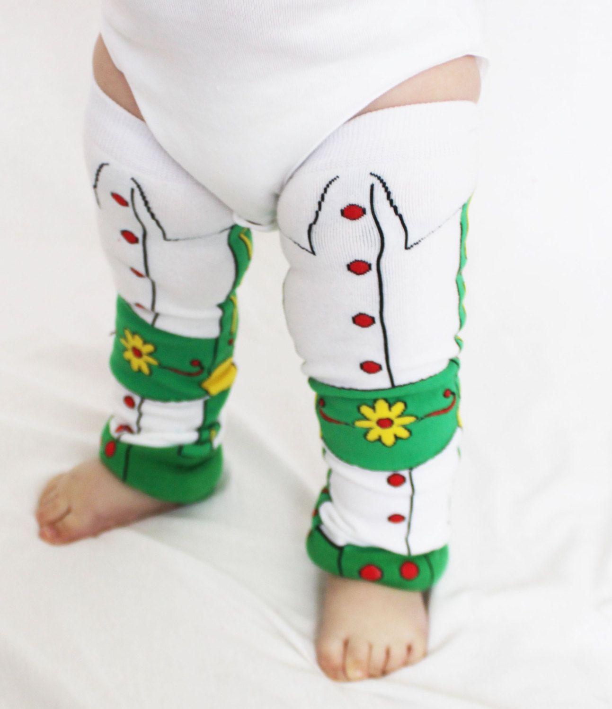How cute are these Lederhosen German Baby Leg Warmers