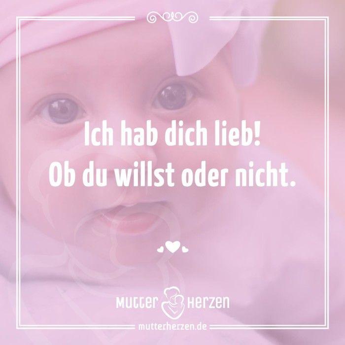 mehr süße sprüche auf: www.mutterherzen.de #baby #geburt #glück