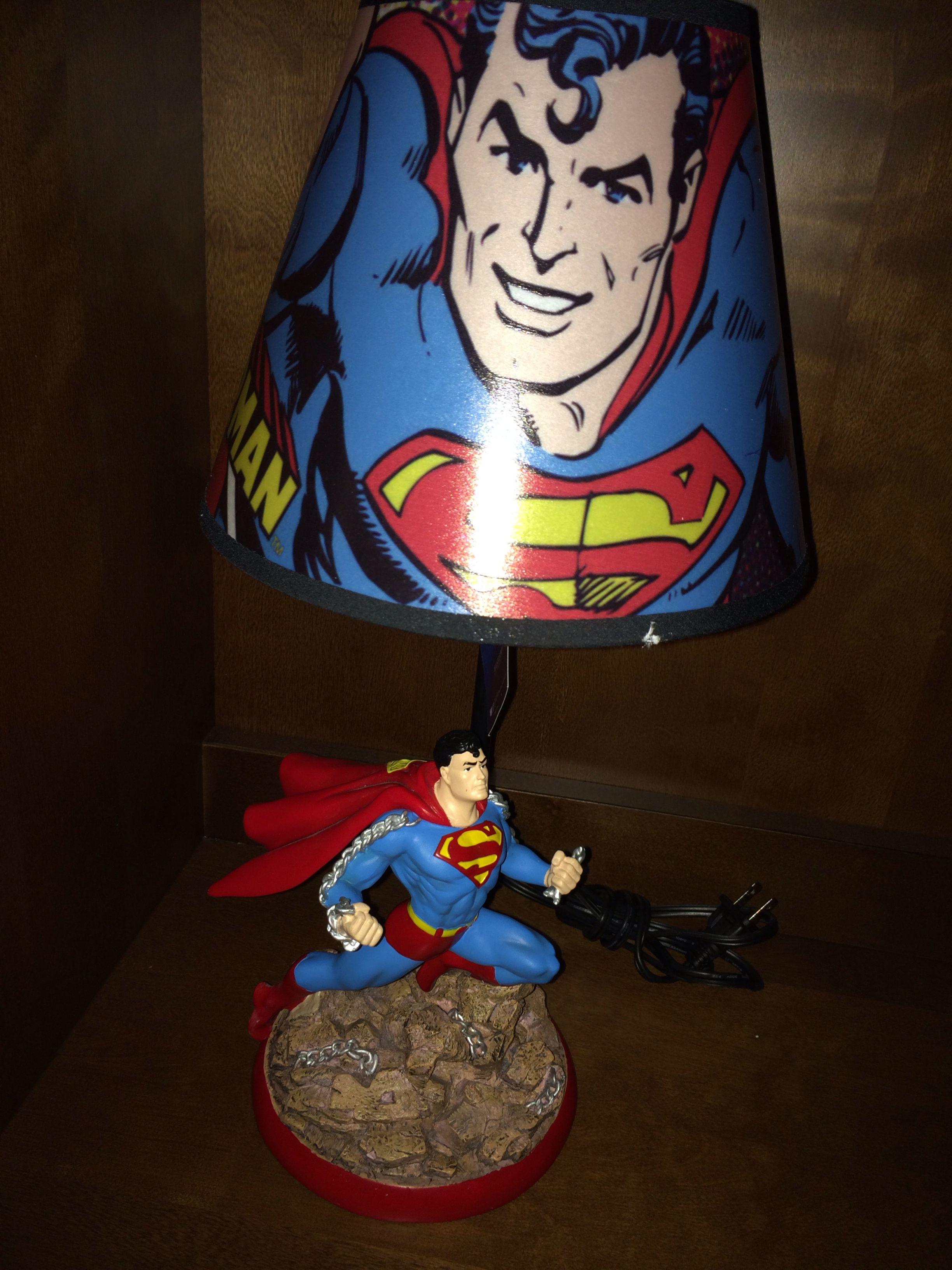 Superhero Room Design: Superman Lamp For The Superhero Room Is A Must