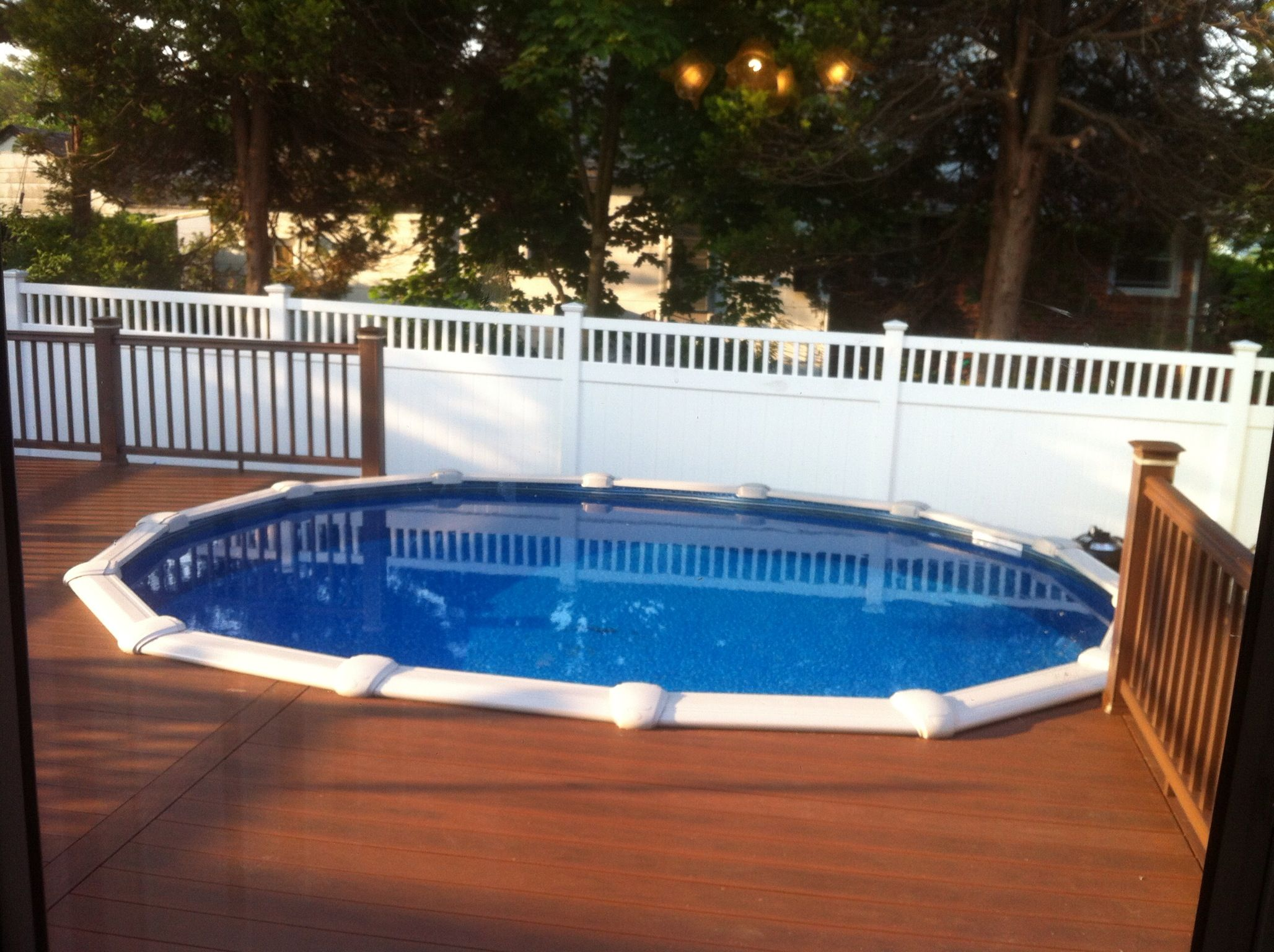 12x17 Sharkline Navigator Aboveground Pool With Deck Brothers 3 Pools Aboveground Semi